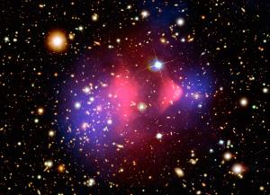 Облака темной материи. Изображение в условных цветах с сайта www.universetoday.com