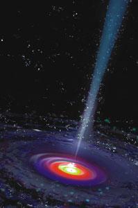 Центральная черная дыра (изображение с сайта www.nasa.gov)